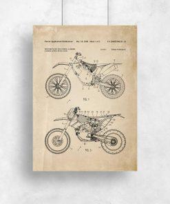 Plakat patent motocykla crossowego