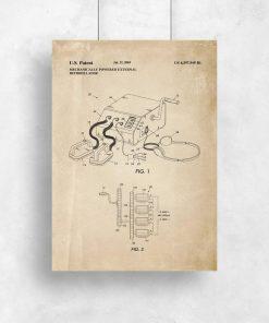 Plakat schemat budowy przenośnego defibrylatora