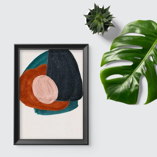 Plakat w abstrakcyjne wzory