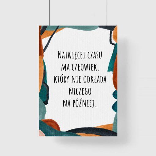 Typograficzny plakat w kolorze turkusowym dla kobiet