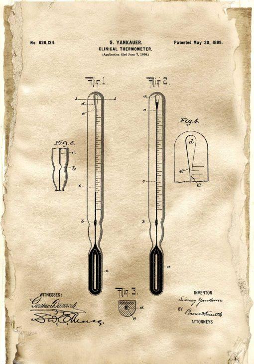 Plakat termometr kliniczny - certyfikat