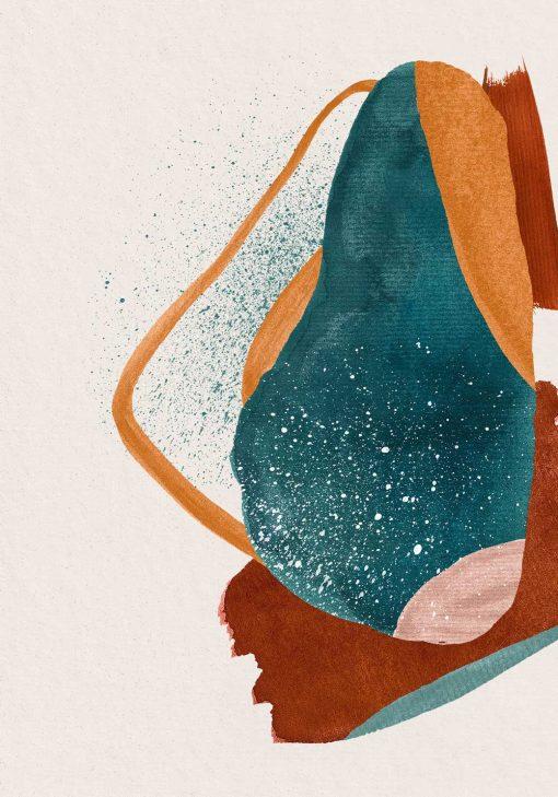 Artystyczny plakat z abstrakcją w kolorze pomarańczowym do poczekalni
