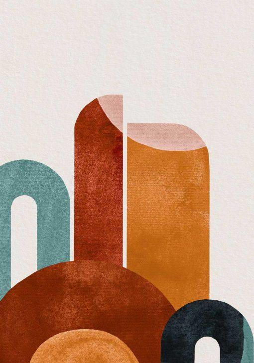 Plakat abstrakcyjne formy