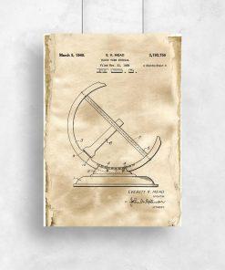 Plakat dla miłośnika historii - Patent na zegar słoneczny do salonu