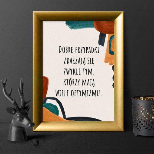 Plakat z sentencją o dobrych rzeczach do gabinetu