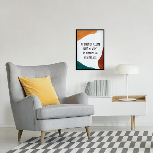 Typograficzny plakat w kolorze turkusowym z sentencją do czytelni