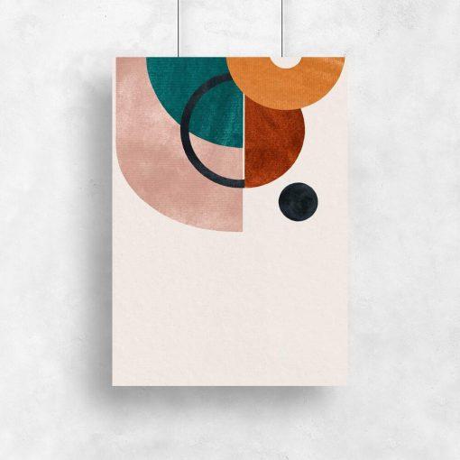 Plakat z motywem geometrii do ozdoby korytarza