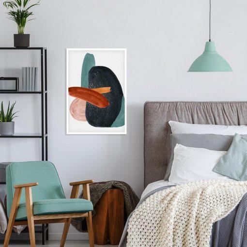 Plakat z futurystyczną grafiką do sypialni