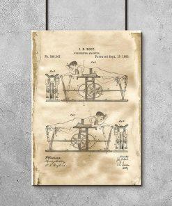 Patent na maszynę do ćwiczeń - Plakat na siłownię