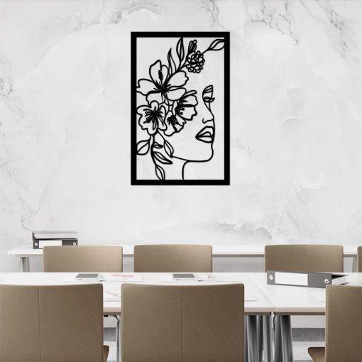 Kobiecy portret 3d - line art