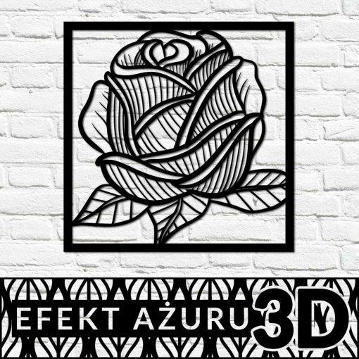 Trójwymiarowy dekor z różą