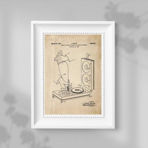 Plakat retro z atestem maszynki do tworzenia pączków