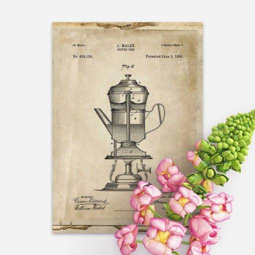 Plakat projekt ekspresu do kawy - prototyp