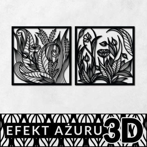Dekoracja 3d z polnymi kwiatami