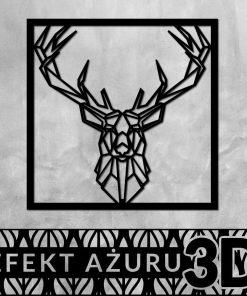 Dekoracja 3d z jelenem