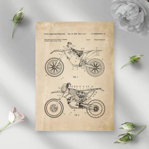 Plakat z licencją na motocykl terenowy - 2008r.