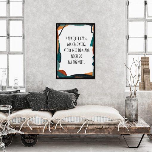Typograficzny plakat w kolorze turkusowym do gabinetu