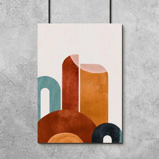 Kolorowy plakat z abstrakcją