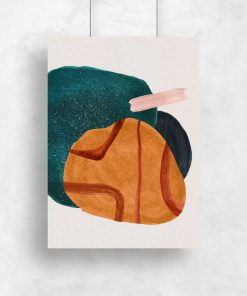 Plakat z plamą w kolorze pomarańczowym do jadalni