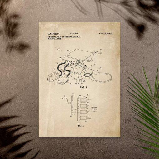Plakat urządzenie pierwszej pomocy medycznej