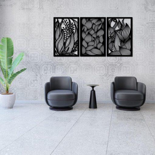 Przestrzenny dekor z motywem botanicznym