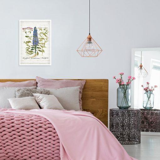 Botaniczny plakat z kolorowymi polnymi kwiatuszkami do sypialni