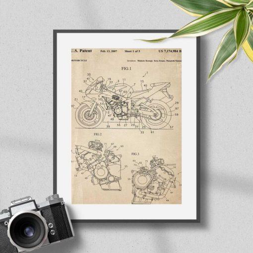 Plakat atest na konstruowanie motocykla