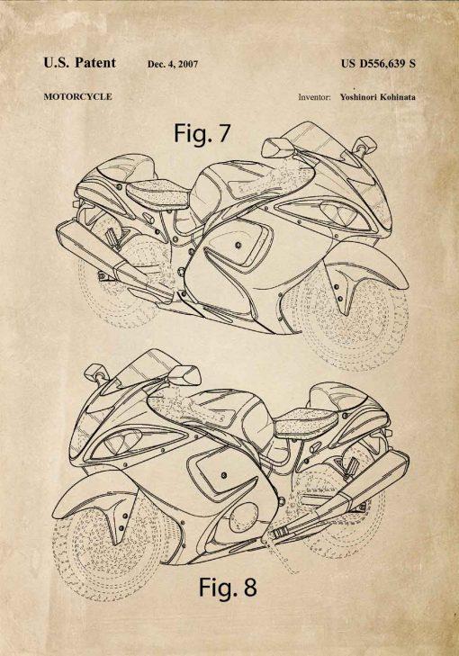 Plakat dla mechanika - Patent na motocykl do warsztatu