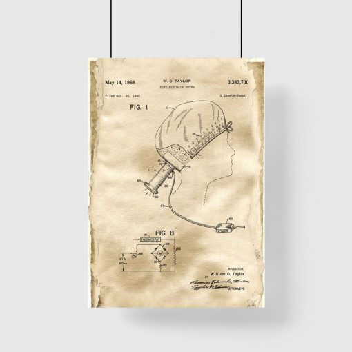 Plakat do pokoju - Przenośna suszarka do włosów