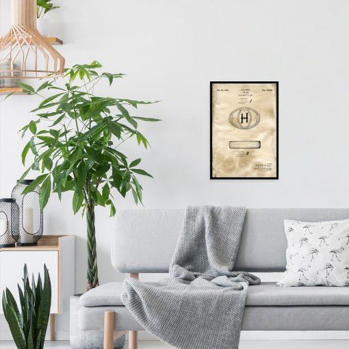Plakat do pokoju z rysunkiem patentowym mydła