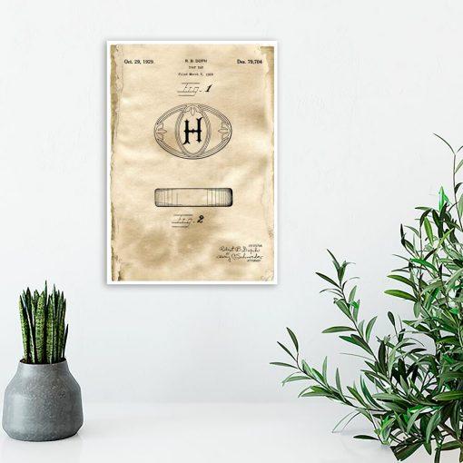 Plakat do toalety z rysunkiem patentowym mydła