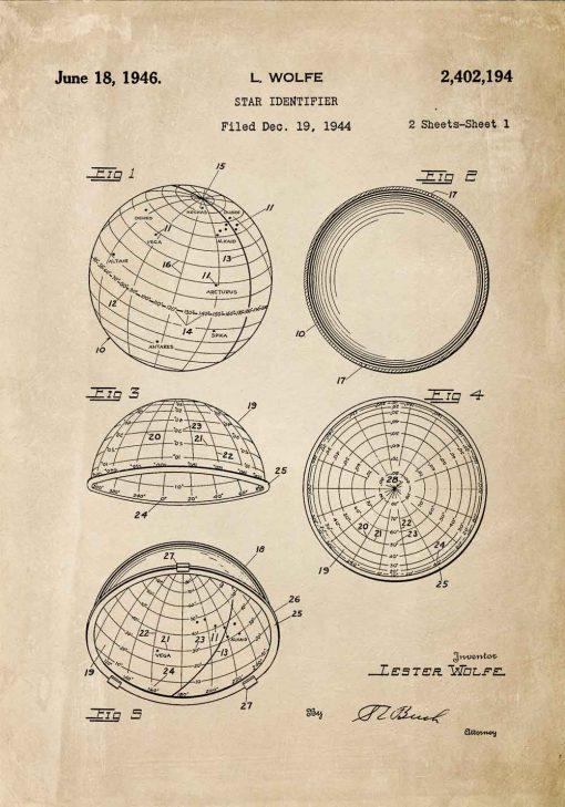 Plakat koncepcja budowy identyfikatora gwiazd