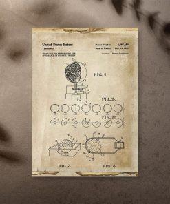 Plakat patent na aparat astronomiczny