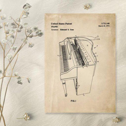 Plakat vintage do ozdoby filharmonii