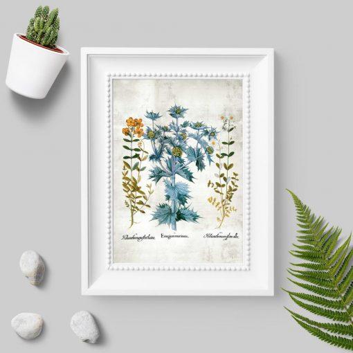 Plakat z drobnymi kwiatuszkami do dekoracji szkoły