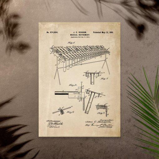 Plakat z instrumentem muzycznym do salonu