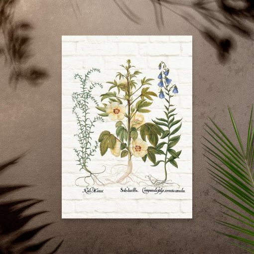 Plakat z kwiatami do dekoracji sklepu ogrodniczego