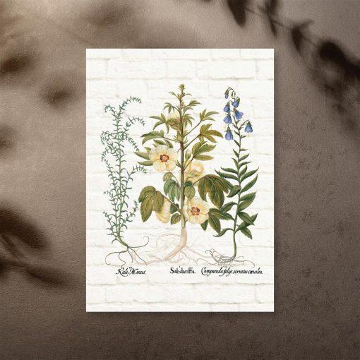 Plakat z kwiatuszkami do dekoracji szkoły