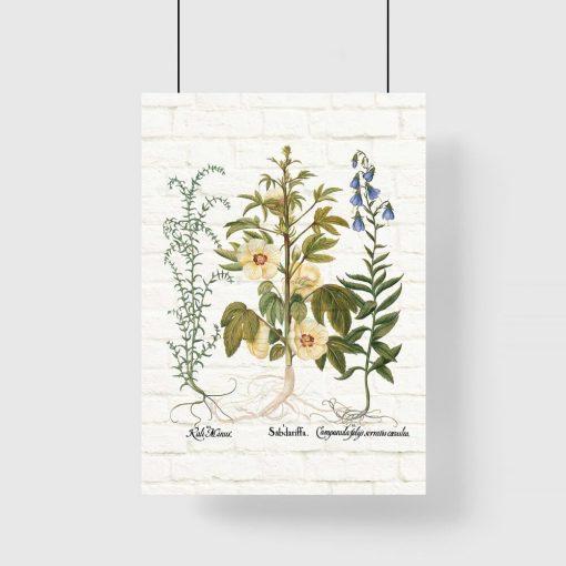Plakat z motywem roślinnym do ozdoby poczekalni