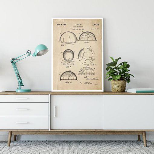 Plakat z patentem do rozpoznawania konstelacji do salonu