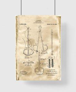 Plakat z patentem na hemostat do gabinetu lekarskiego