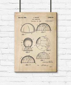 Plakat z patentem na machinę do rozpoznawania konstelacji do przedpokoju