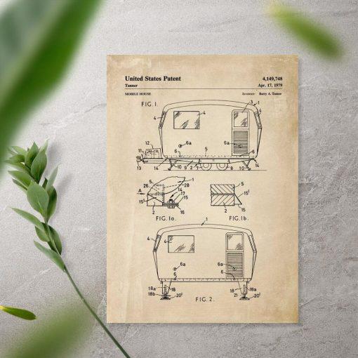 Plakat z patentem na przyczepę do przedpokoju
