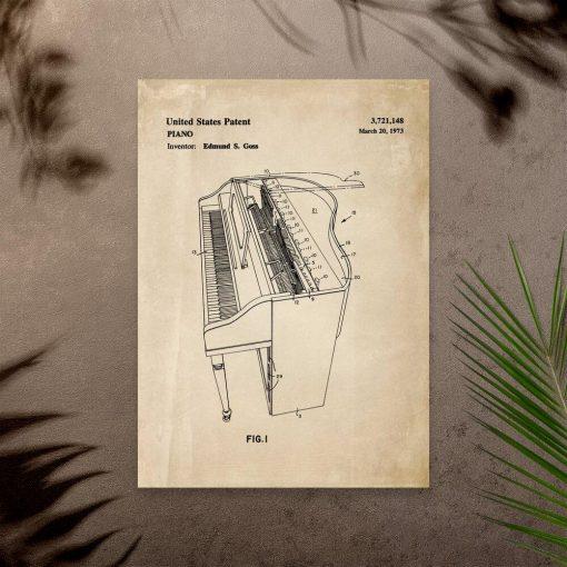 Plakat z pianinem do dekoracji przestrzeni w filharmonii