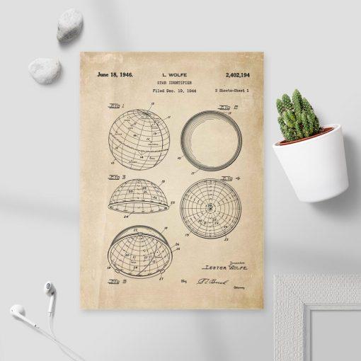 Plakat z projektem na urządzenie astronomiczne