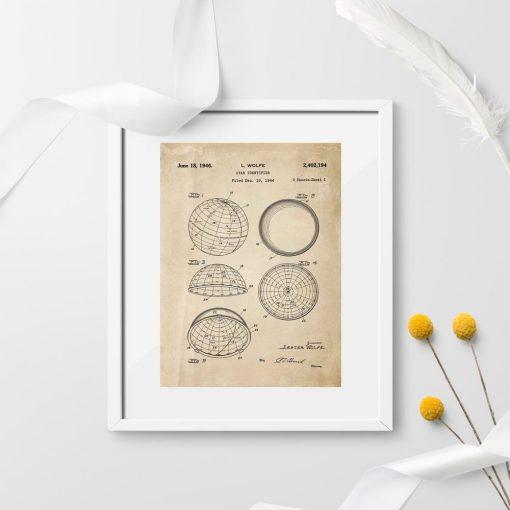 Plakat z projektem urządzenia astronomicznego