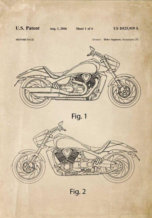 Plakat z prototypem motocykla z 2006r,