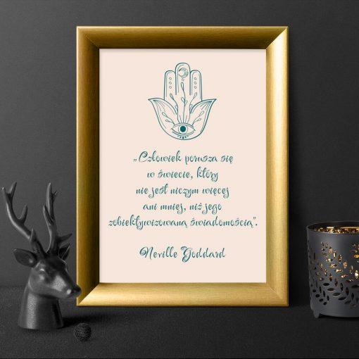 Plakat z ręką Miriam i do dekoracji salonu