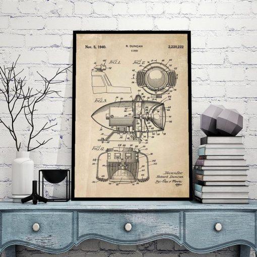 Plakat z rysunkiem patentowym syreny alarmowej do sypialni