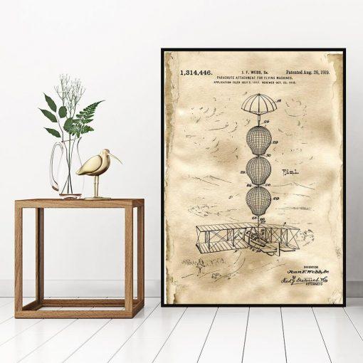 Plakat z rysunkiem patentowym - Zabezpieczenie samolotu do sypialni